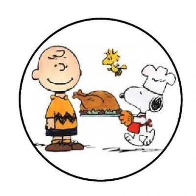 48 SNOOPY CHARLIE BROWN THANKSGIVING ENVELOPE SEALS LABELS STICKERS 1.2