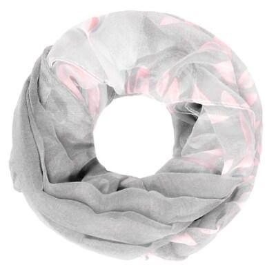 leichter Damen XXL Schlauchschal Infinity Loop Schal Rundschal Blumen Blüten