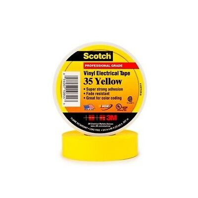 3m 34 Inch X 66 Feet Scotch Vinyl Color Coding Electrical Tape 35 Yellow