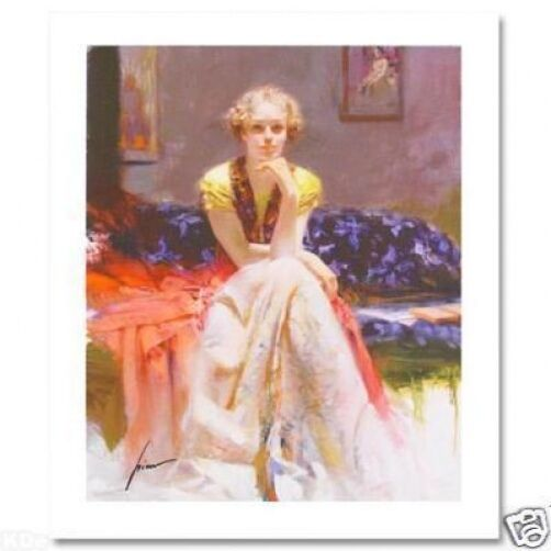 "Pino Hand Signed/# ""enchantment"" Elegant Beautiful Woman Giclee On Paper 18x15"