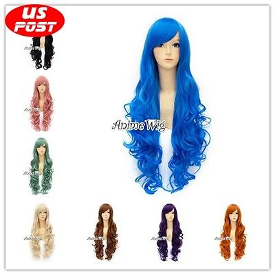 Halloween 80cm Long Curly Women Girls Daily Basic Style Synthetic Cosplay Wig