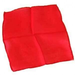Deluxe-6-Inch-RED-MAGIC-SILK-Scarf-Handkerchief-Magicians-Trick-Prop-100-Clown