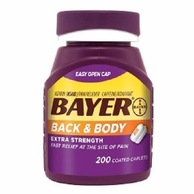 Bayer Back & Body Extra Strength Coated Caplets, 200 ea