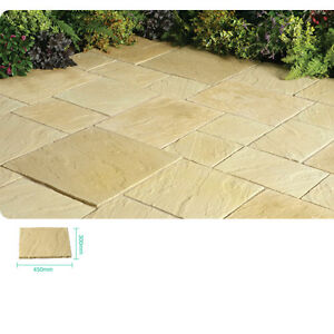Abbey York Gold Paving Slabs Garden Landscaping Pavement