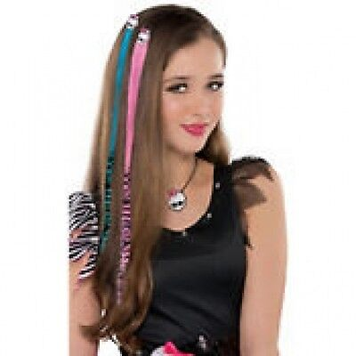 Monster High Halloween Costume Hot pink and Electric blue Hair Extensions 2ct](Monster High Hair Extensions)