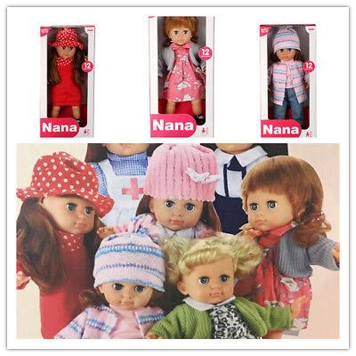 Puppe mit lange Haaren elegant hoch Spielpuppe klassisch 37cm hoch 12 Baby Sound (Puppe Mit Haar)
