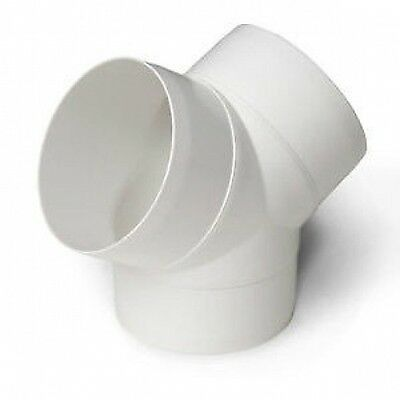 Ducting Y Splitter Piece, Extractor Fan Duct Pipe For Ventilation VENT 100mm 4""