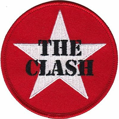 THE CLASH - STAR LOGO - EMBROIDERED PATCH - BRAND NEW - MUSIC BAND 4256