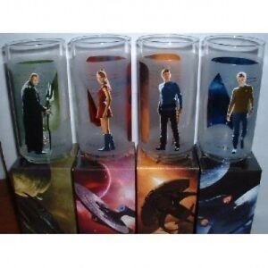 Set of 4 Star Trek Movie Glasses from Burger King