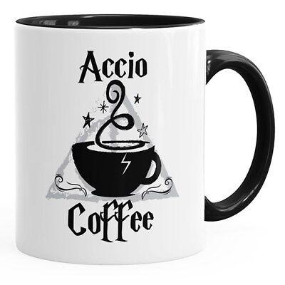 Kaffee-Tasse Spruch Accio Coffee Teetasse Keramiktasse MoonWorks®