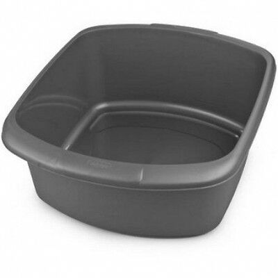 750154 Whitefurze Plastic Rectangular Washing Up Kitchen Bowl Silver [H0507]