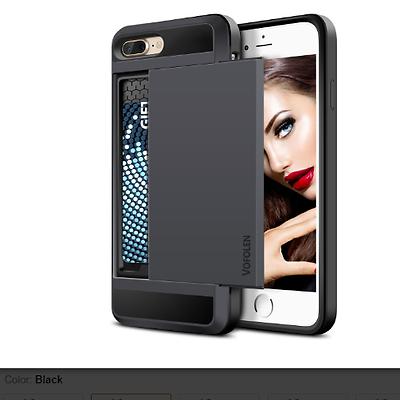Wallet Phone Case iPhone 7 Plus Sliding Card Holder Vofolen