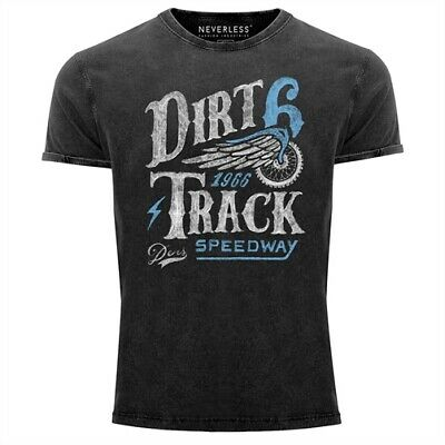 Dirt Track Racing T-shirts (Cooles Angesagtes Herren T-Shirt Vintage Shirt Dirt Track Racing Aufdruck Used)