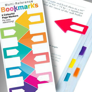 8-ARROW-REFERENCE-BOOKMARKS-School-Stationery-Office-Accessory-Clip-On-Marker