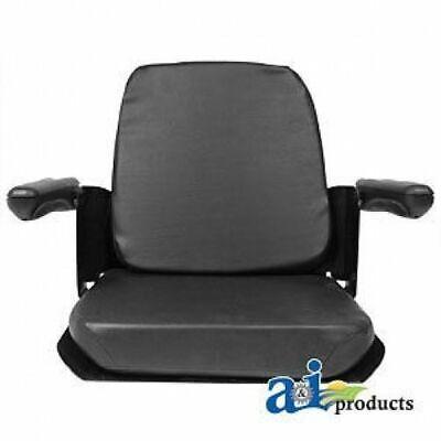 Kubota Seat Assembly Wflip Up Arms Black Vinyl