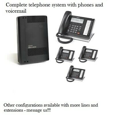 Refurbished Toshiba Cix40 Phone System With 4 Dp5022sdm Phones And Voicemail
