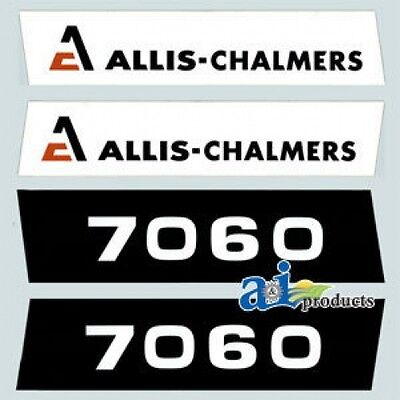 Ac7060 New 7060 Hood Decal Set Ac For Allis Chalmers Tractor