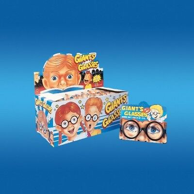 Glasses Funny (Deluxe GIANTS NERD GLASSES Joke Funny Clown Geek Big Thick Bottle Black)