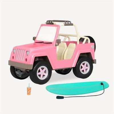 Our Generation American Girl 4x4 Jeep Car Dune Buggy Surfboard Lights Horn Nanea