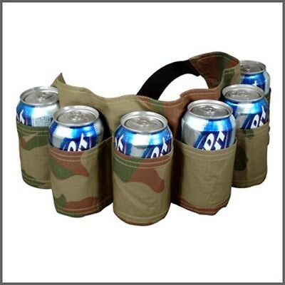 Big Mouth Toys Beer Belt / 6 Pack Holster (Camo) Holds Bottles or Cans