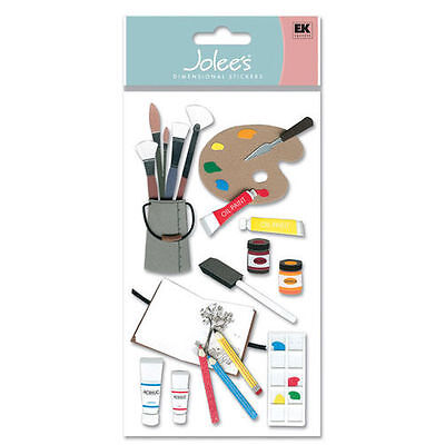 JOLEE's Scrapbooking 3D Sticker ~ ART SUPPLIES ~ KÜNSTLER ~ MALER ~ PINSEL