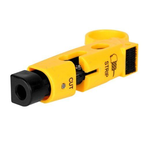 Preset RG6, RG59 Cable Stripper with Velcro Combo, Cable Prep Tool