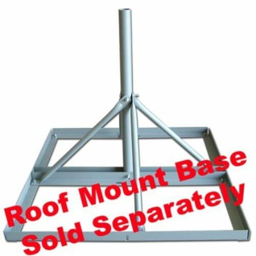 Antenna Mast For Non-Penetrating Roof Mount Base, 30 Inch Length, 2.0 Inch O.D