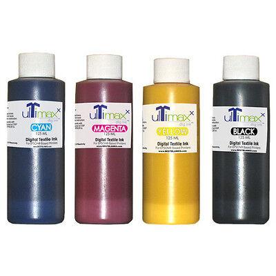 Ultimaxx Dtg Inks For Anajetmelcojet Others 4 Bottles Cmyk 125ml4.25oz