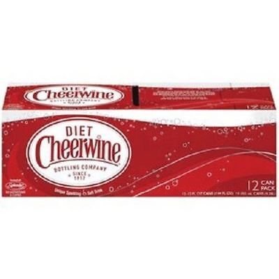 Diet Cheerwine Soda 12 Pack Of Cans