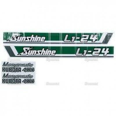 New Kubota L1-24 Sunshine Decal Set