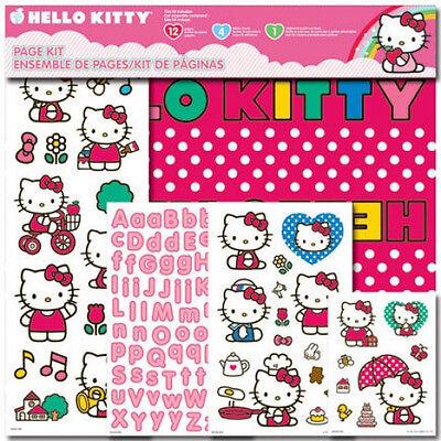 Princess Scrapbook Kit (NEW Hello Kitty Disney Princess Mickey Mouse Scrapbook Paper Kit CHOICE stickers )
