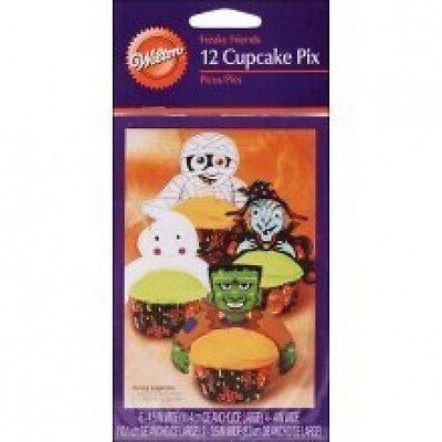 (2) Halloween Wilton Cupcake Decorating Pix Party Supplies = 24 - Halloween Cupcake Decorating Supplies