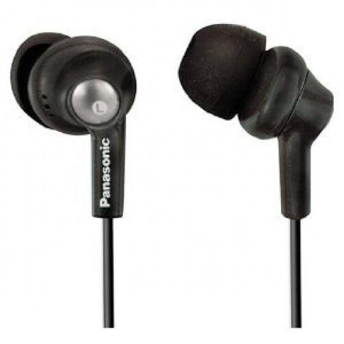 Panasonic RP-HJE280-K Inner Ear Earbud Headphones (Earbuds) w/Extension (Black)