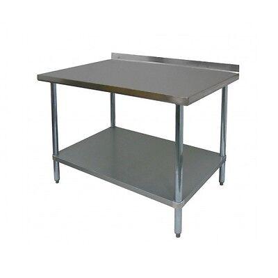 Stainless Steel Work Table 24x24 W Backsplash - Nsf