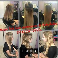 Rallonges micro-anneaux (fusion froide)_Hair extensions