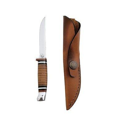 Case Cutlery 379 Hunter Small Fixed Blade Knife w/ Leather Sheath