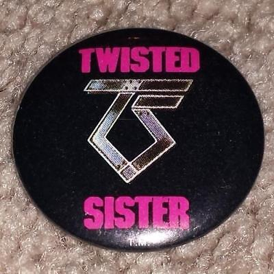 Twisted Sister Rock Band Button Pin ~ Vintage 1983