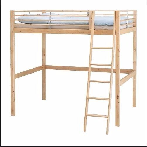 Ikea Double Loft Bed High Bunk Solid Wood