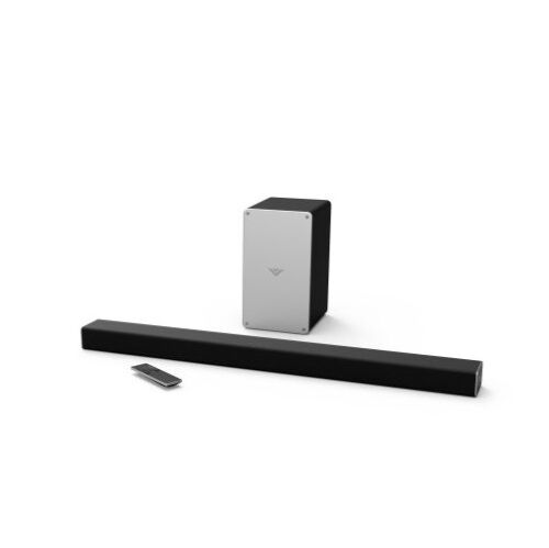 "VIZIO 2.1-Channel Soundbar System with 5-1/4"" Wireless Subwoofer and Digital Amplifier Black/Silver SB3621N-E8M"