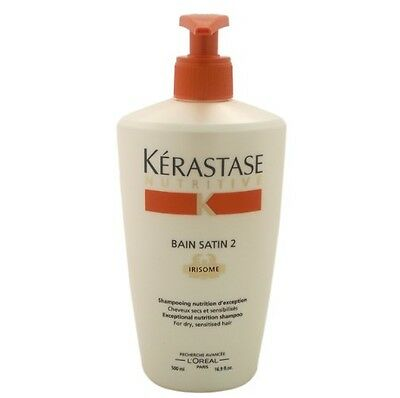 Kerastase Nutritive Bain Satin 2 Shampoo For Dry Sensitised Hair 500ml New