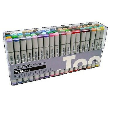 Copic SKETCH Marker Pen 72 Color Markers Set A B C D E Japan Christmas Gift EMS (Copic Marker Sketch Set E)