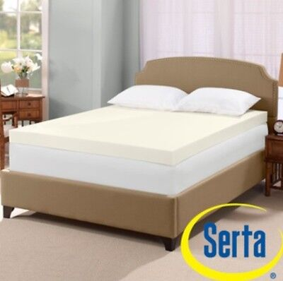 Serta Ultimate 4-inch Visco Memory Foam Mattress Bed Topper Pad Memoryfoam
