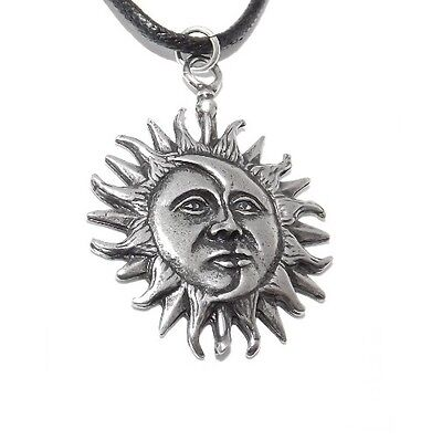 Sun and Moon Pagan Celestial Pendant / Necklace