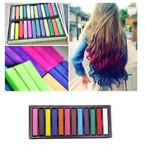 Hair chalk temporary hair dye colour kit pastels colours for A salon to dye for