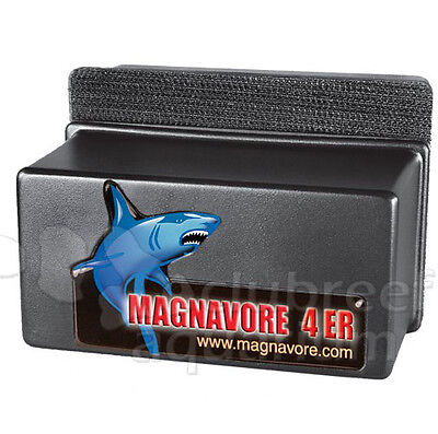 """Magnavore 4ER Aquarium Algae Cleaning Magnet 1/2"""" to 5/8"""" Thick Tank"""