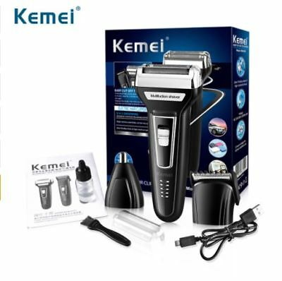 Kemei 6559 - 3in1 Electric Shaver Hair Clipper Nose Trimmer Dual Blade Razor USB for sale  Shipping to India