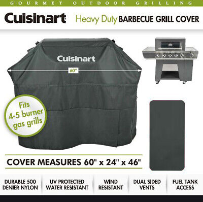 Cuisinart Heavy Duty Barbecue Gray 4-5 Burner Gas Grill Cover UV Protected