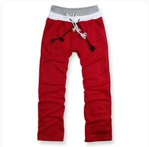 Mens Tracksuit Casual Pants Straight Sports Trousers FREE SHIPPING