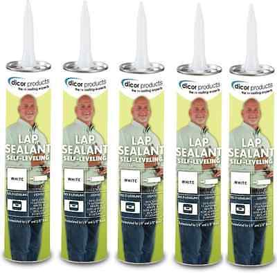 5 Tubes of Dicor EPDM Rubber Roof Sealant for RV / Camper / Motorhome