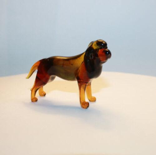 Art Blown Glass Murano Figurine Glass  Dog Bloodhound